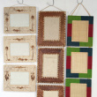 Hanging Picture Frames - Various sizes, colours, and materials (raffia matting, paper, banana leaves)