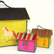 ' House-Box ' Baskets - Various sizes, colours, and raffia materials. Huge: Height: 38 cm Length: 47 cm Width: 27 cm Big: Height: 19 cm Length: 19 cm Width: 14 cm Medium: Height: 17 cm Length: 17 cm Width: 12 cm Small: Height: 14 cm Length: 14 cm Width: 9 cm