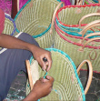 Assembling the baskets - The word is entirely made by hand