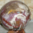Petrified Wood - Wooden ball on a stand
