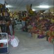 Excideuil Warehouse - Baskets and objects from Madagascar crafts are being stocked