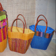 Beach Bags - Big leather handles, inner bag. One size
